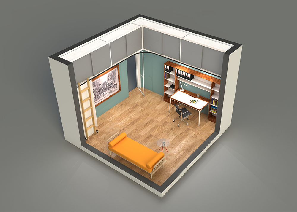 Ceiling Storage Solution For A Home Office Betterspace